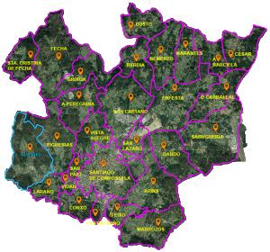 parroquias concello Santiago