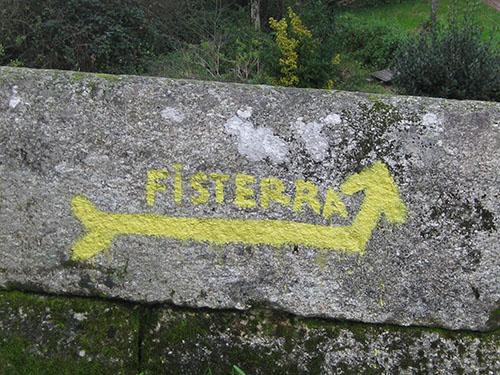 señalización camino Fisterra